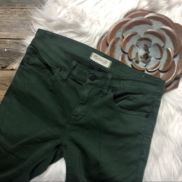 Madewell Denim - Madewell Jeans Pants 27 Skinny Skinny Deep Green